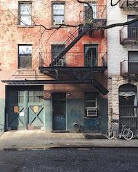 gray bike on gray concrete building