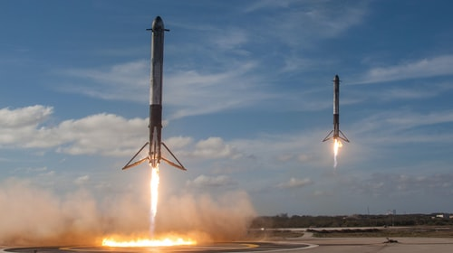 SpaceX embarks on the construction of giant floating spaceports