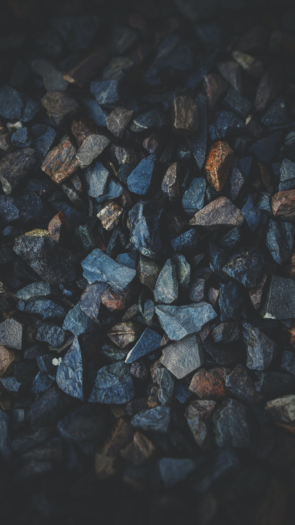shallow focus photography of gravels