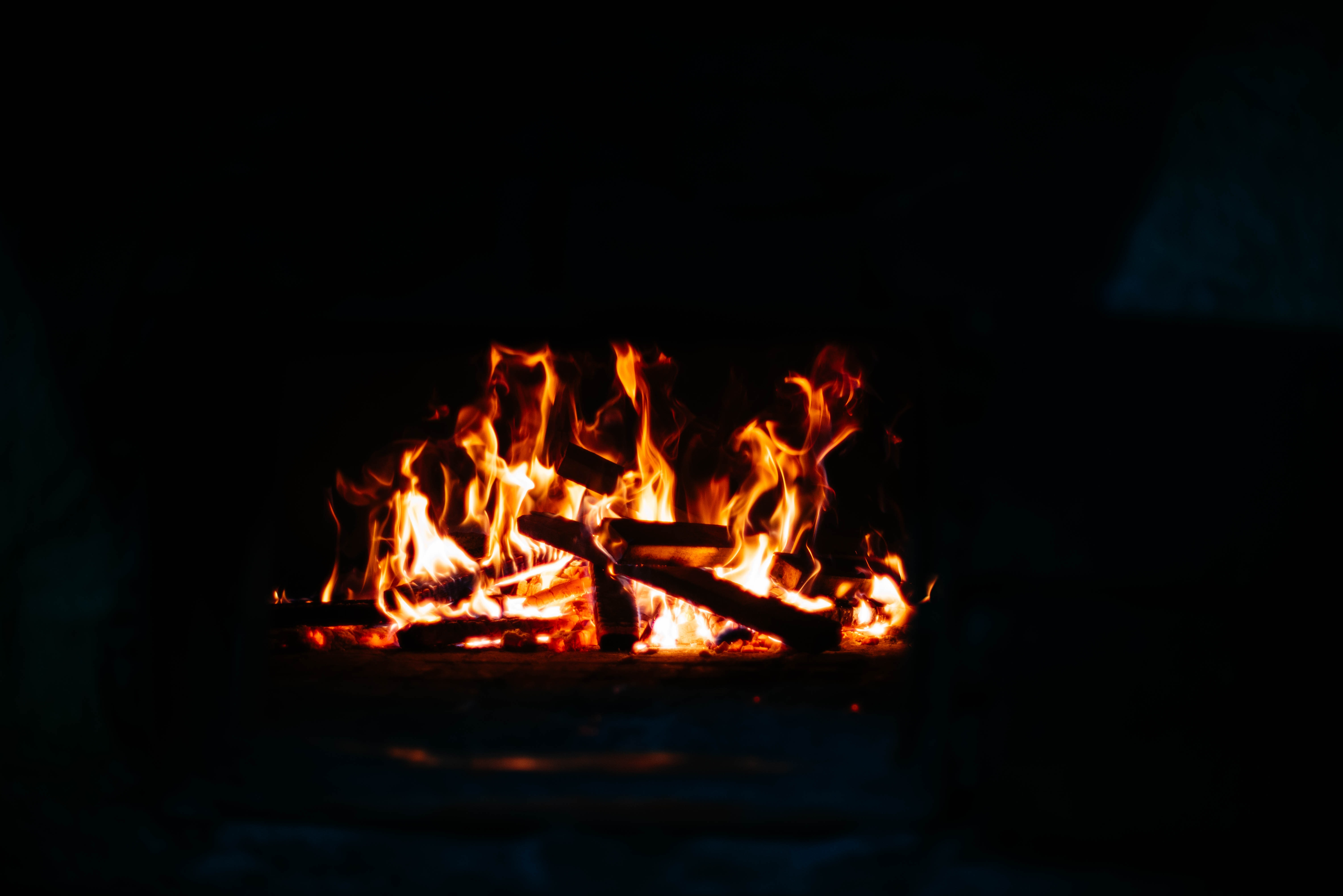 focus photo of fire pit