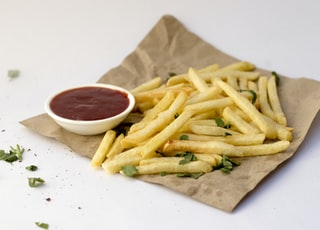 fries and ketchup