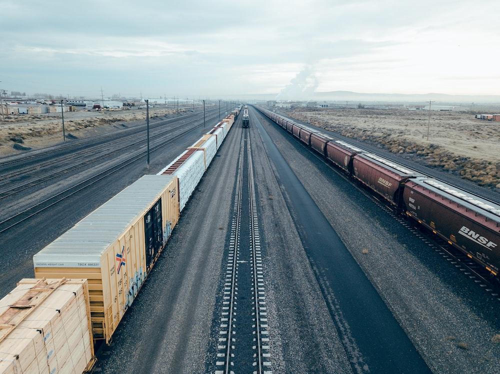 brown train during daytime