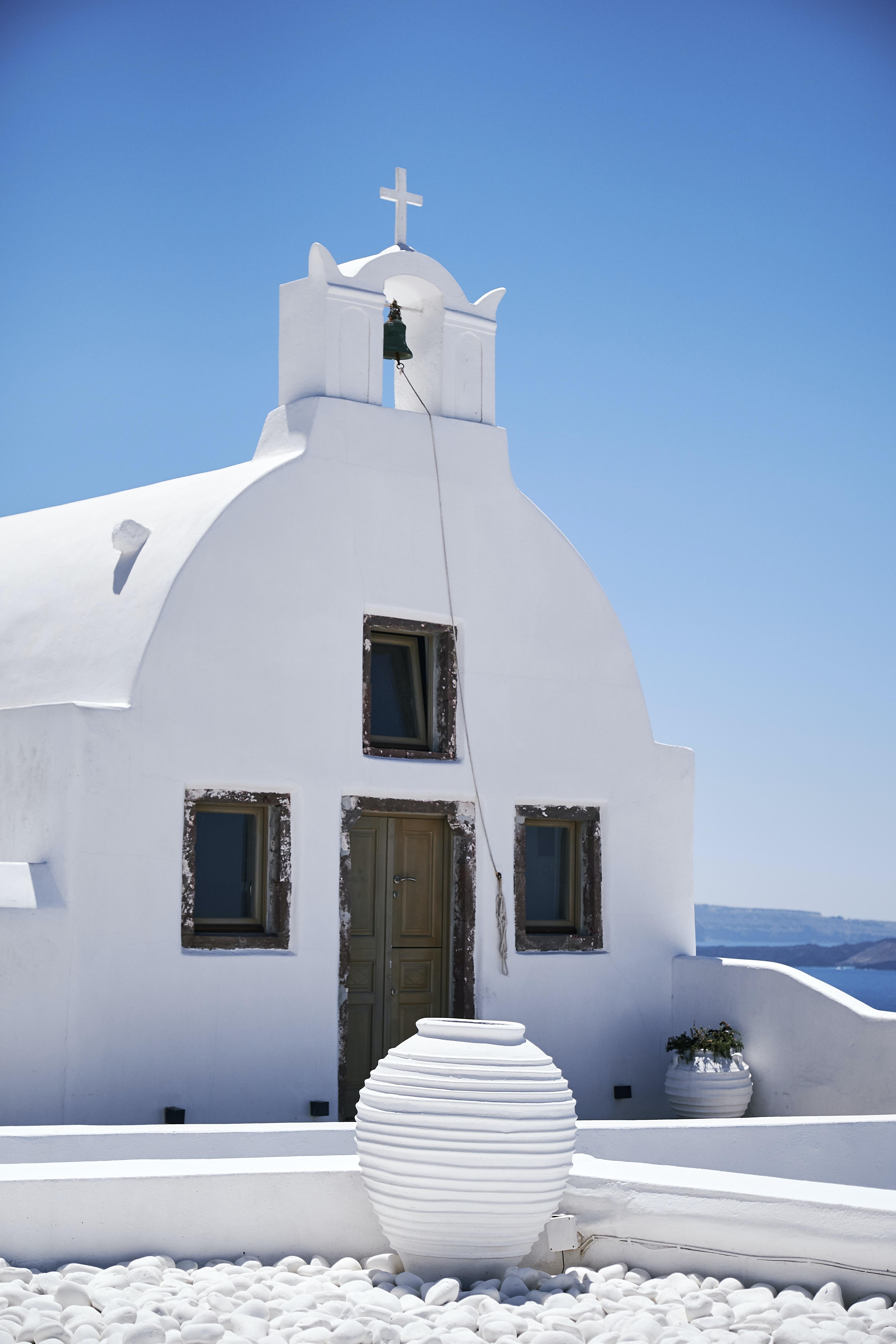 white concrete chapel