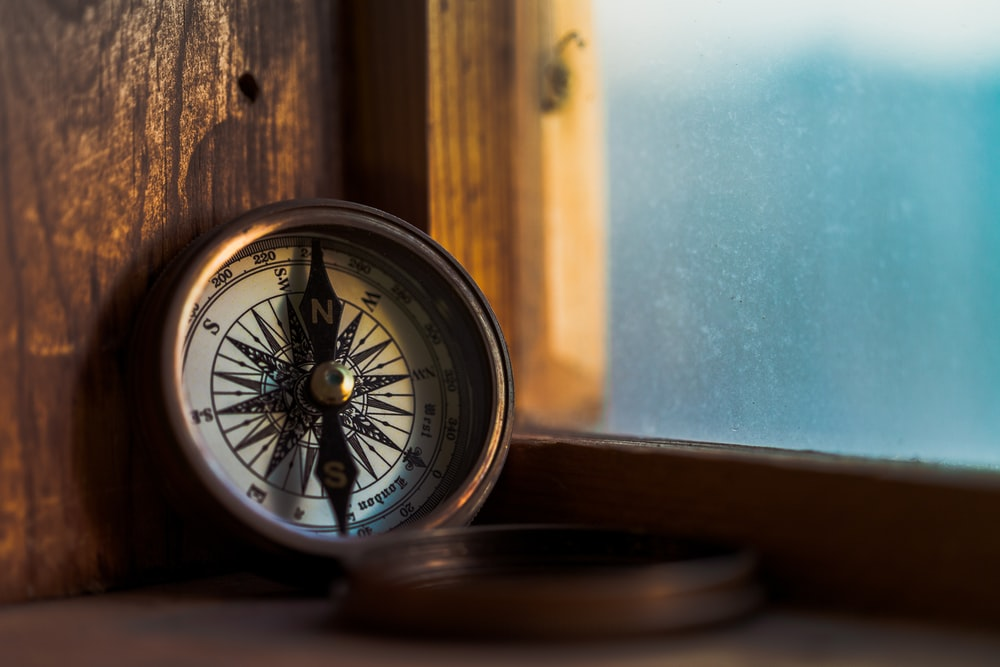 round white compass