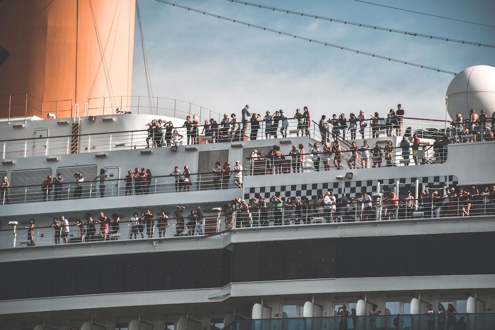 white and black cruiser ship