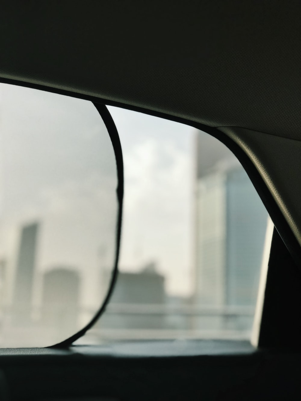 black vehicle window sunshade
