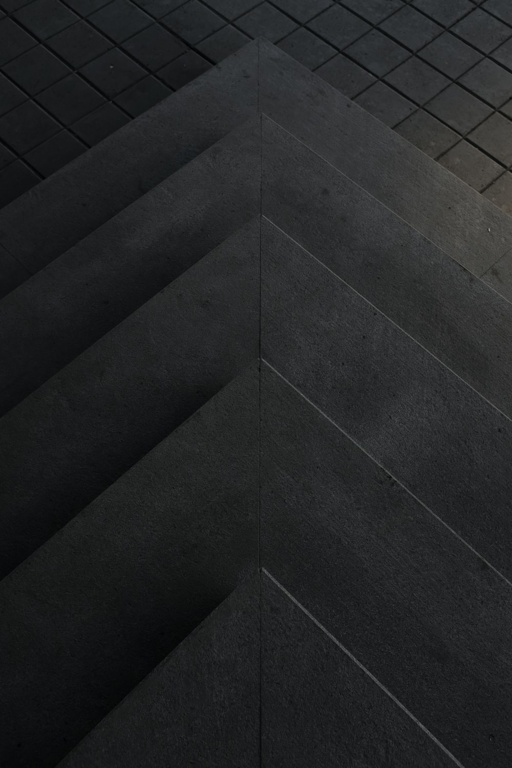 aerial view photography of concrete step