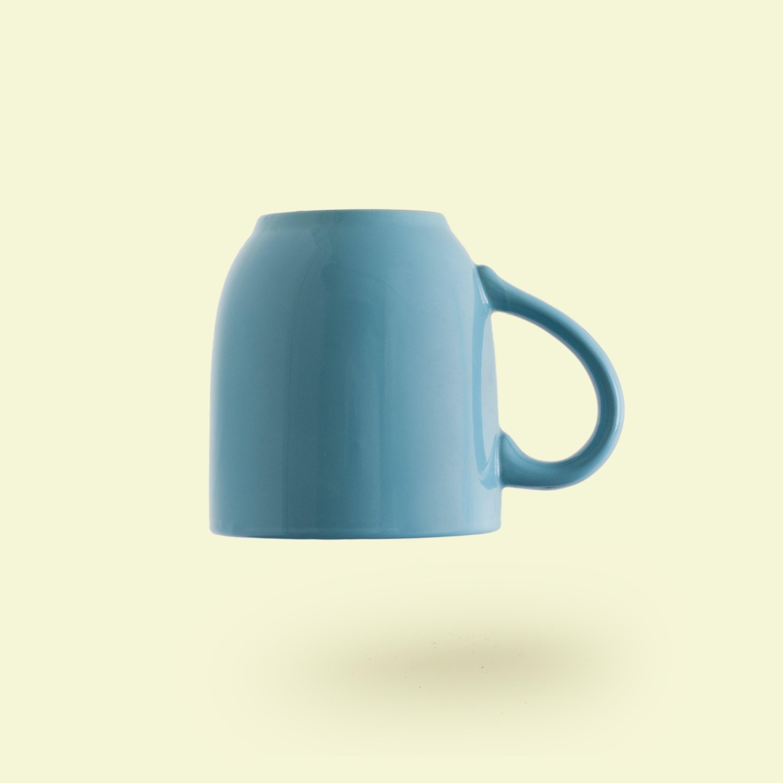 teal ceramic mug