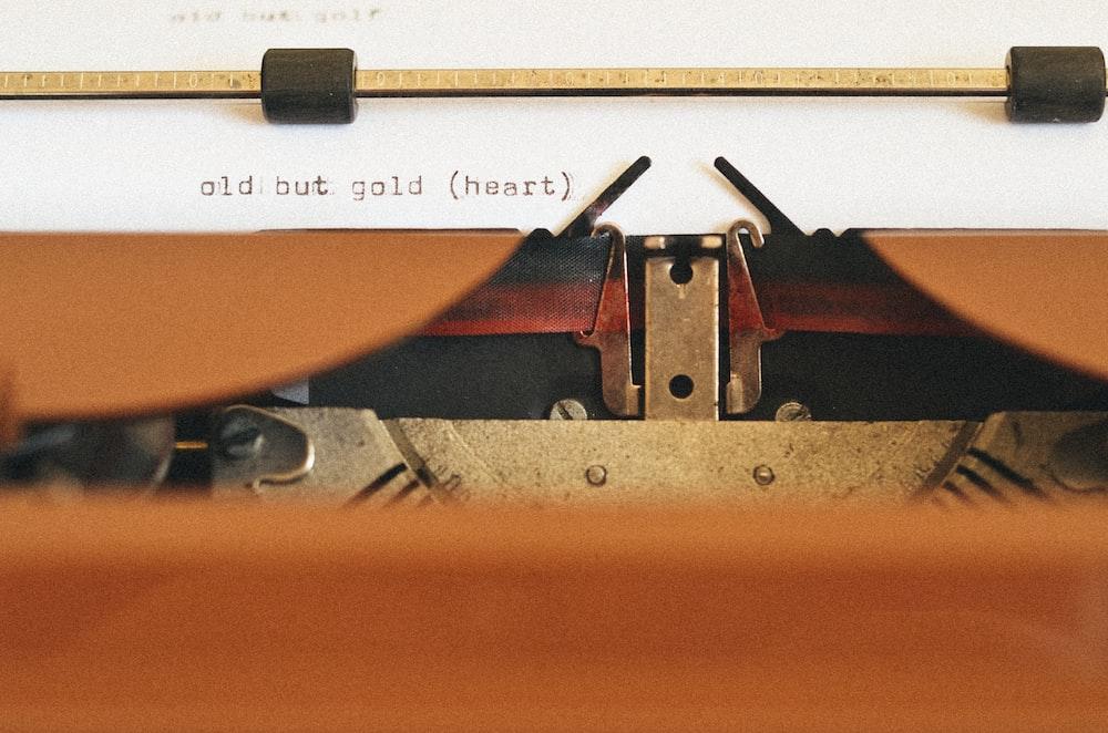 grey and white typewriter