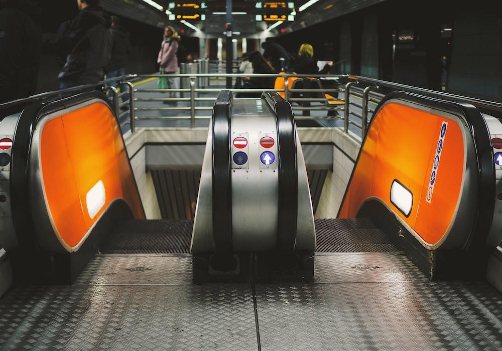 escalator on train station