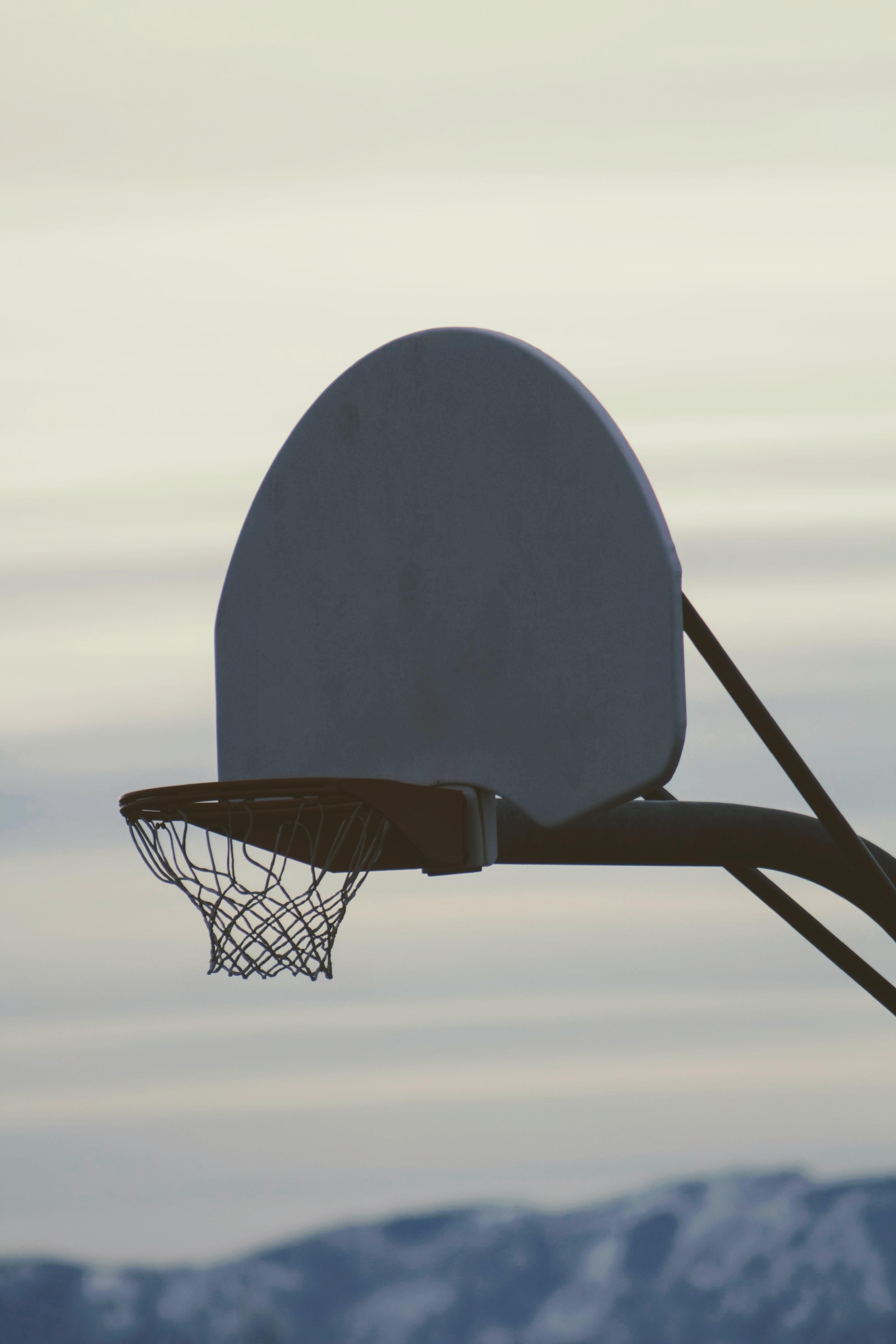 selective focus photography of basketball hoop