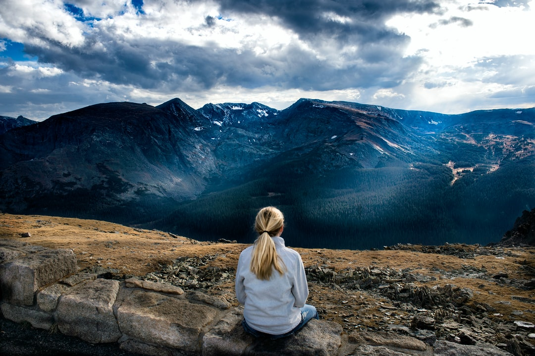 I asked permission before I photographed this young lady just sitting quietly and captivated by the ever-changing vista in front of her. The light was magnificent on this early October day, and it seeming never stopped revealing and hiding the incredible mountains in the distance. I loved the contrast of her blonde ponytail and the deep tones of the mountains.
