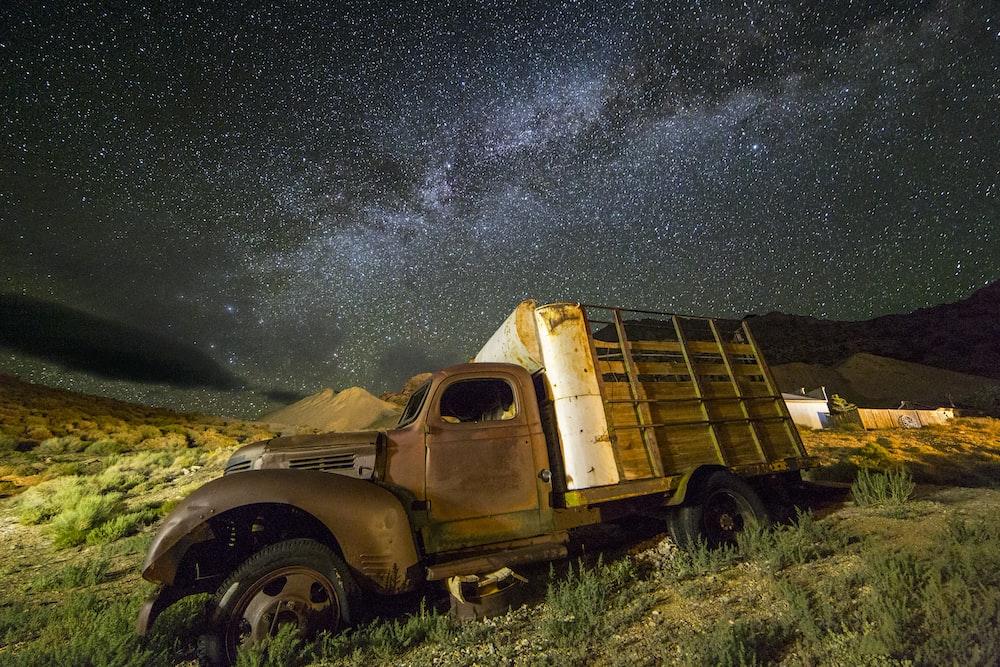farm truck on grass