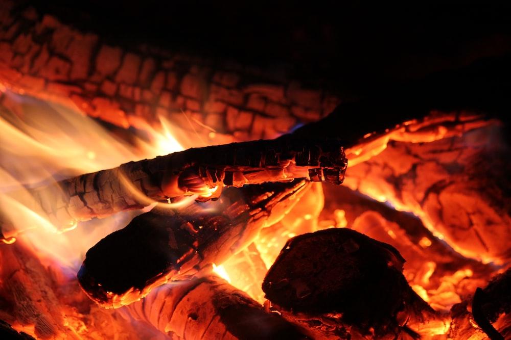 burning firelogs