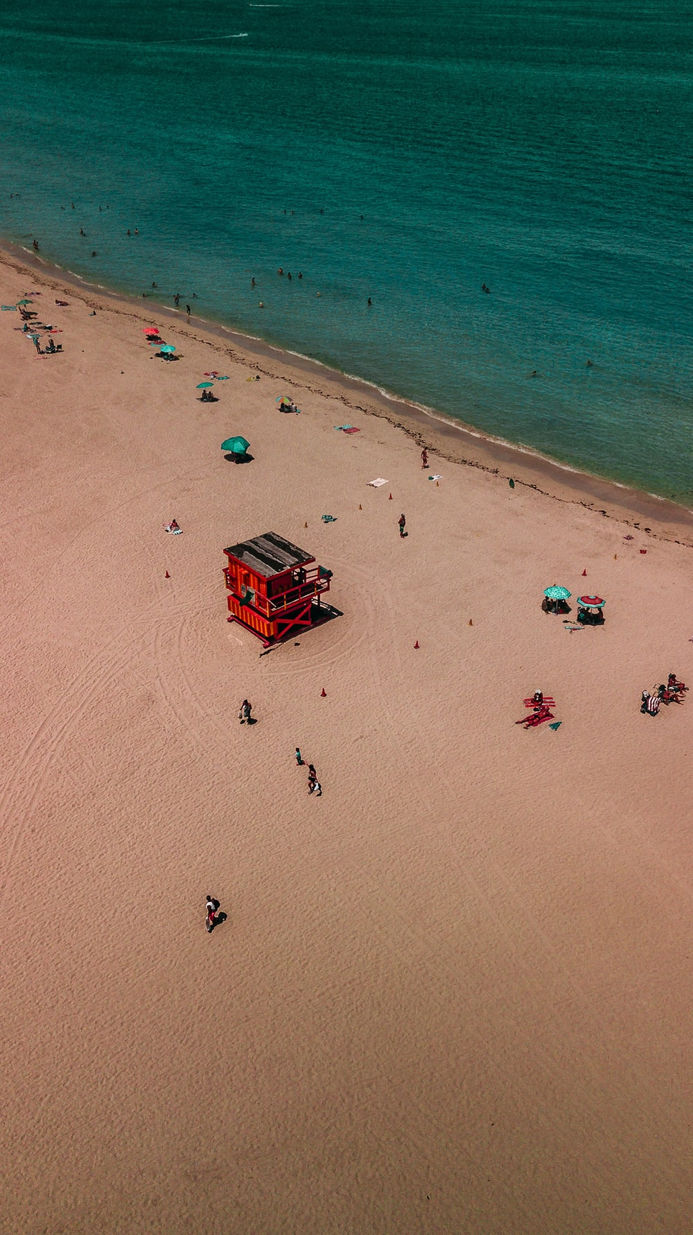 aerial photography of beach