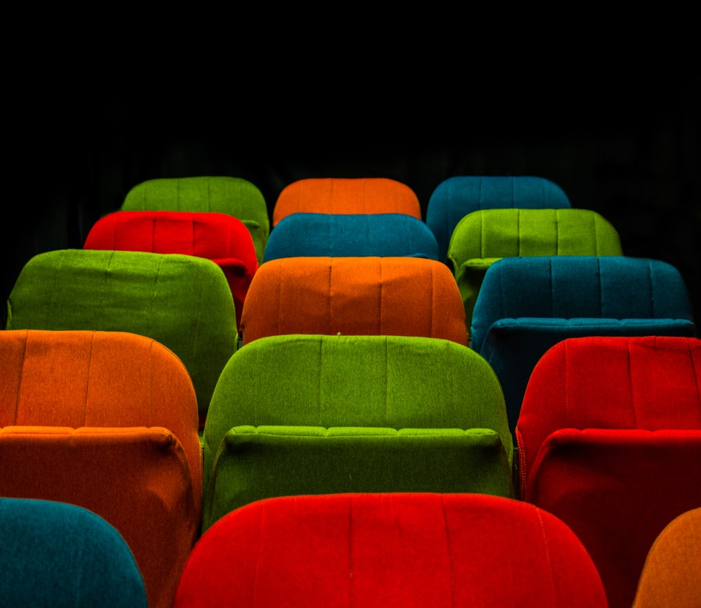 assorted-color fabric chairs
