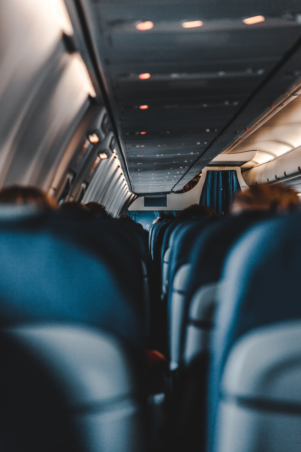 selective focus photography of airplane