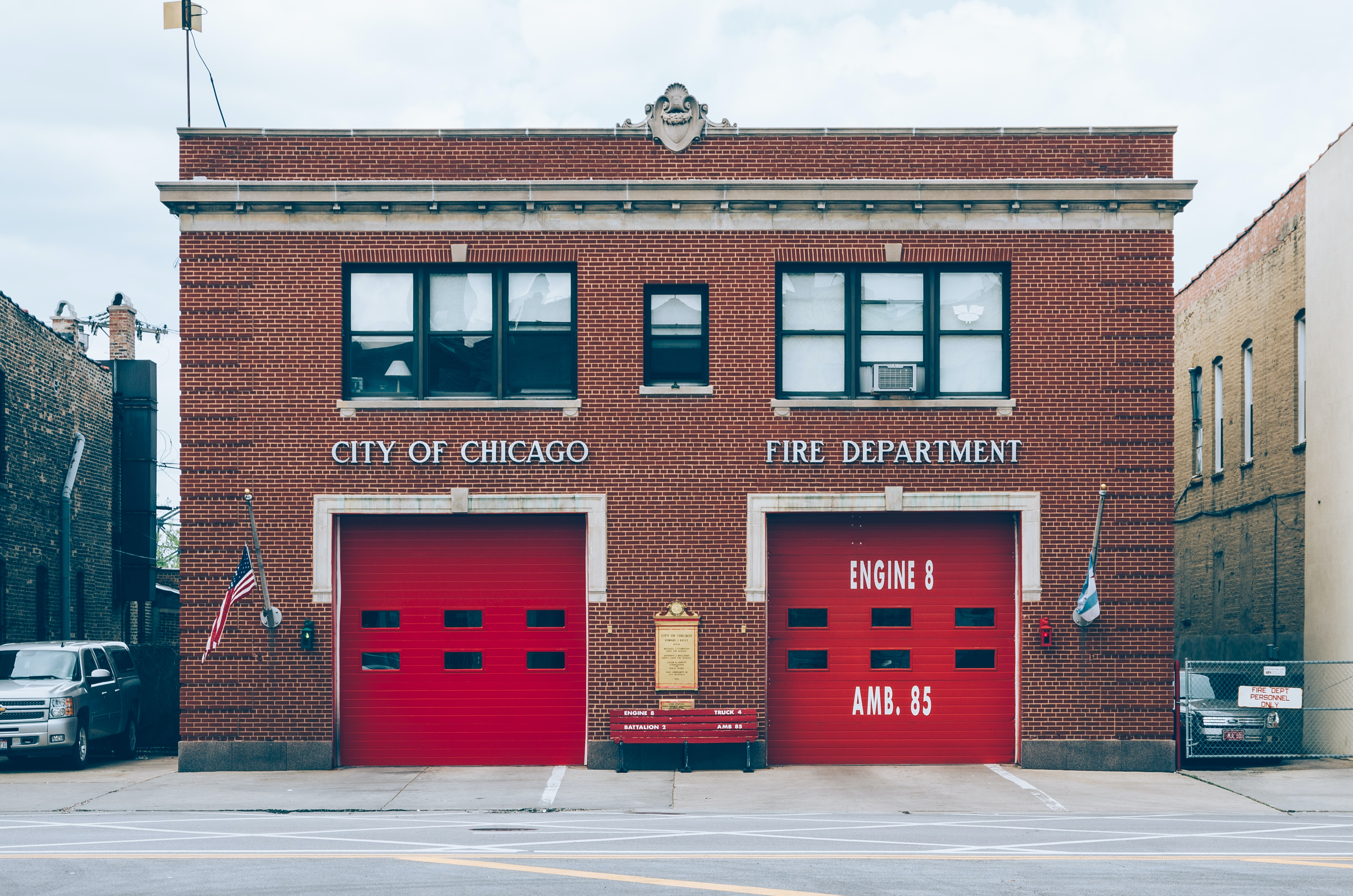 City of Chicago Fire Department at daytime