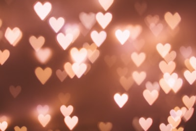 heart bokeh light day zoom background