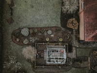 aerial photography of concrete house