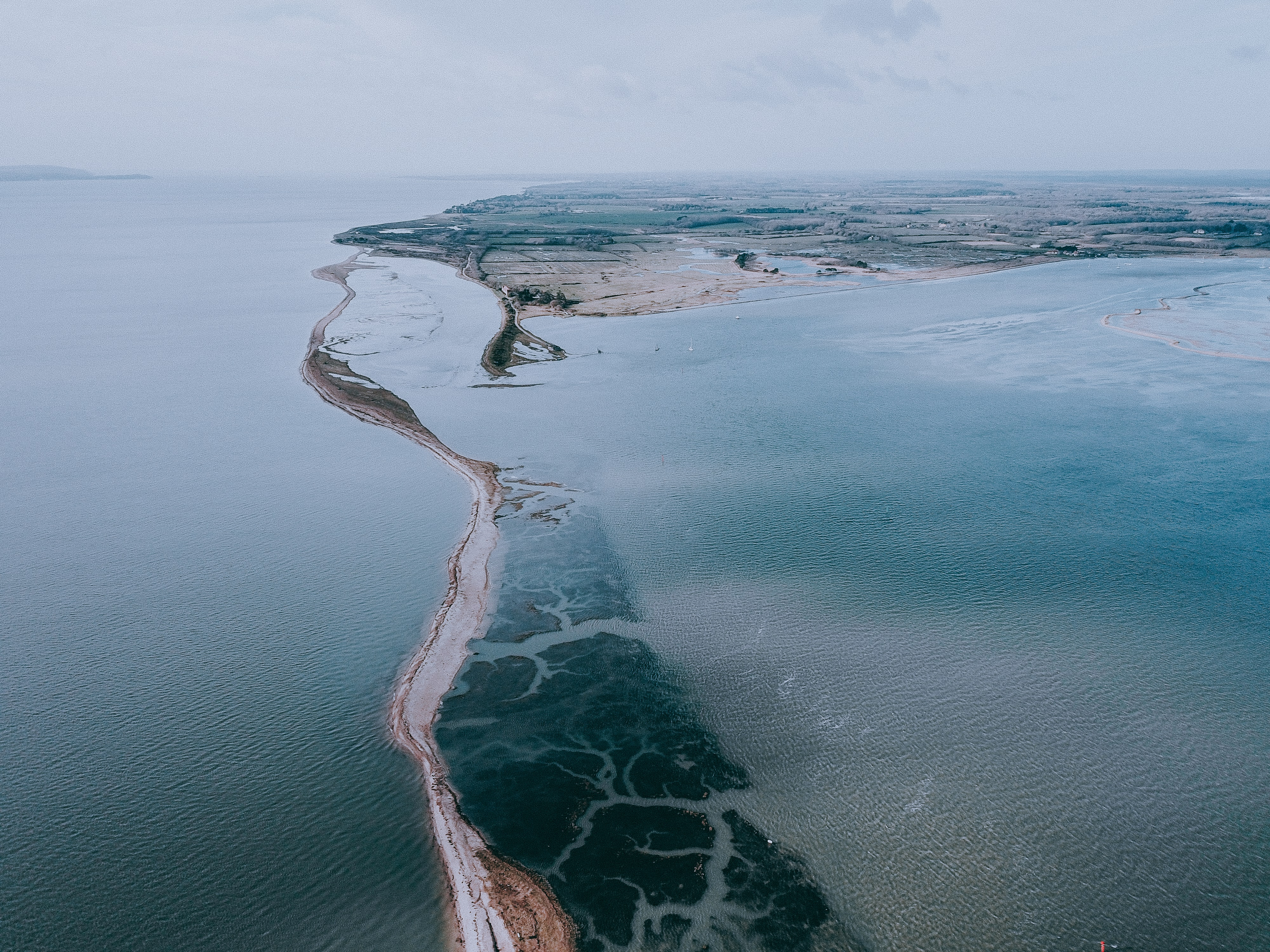 aerial photography of water