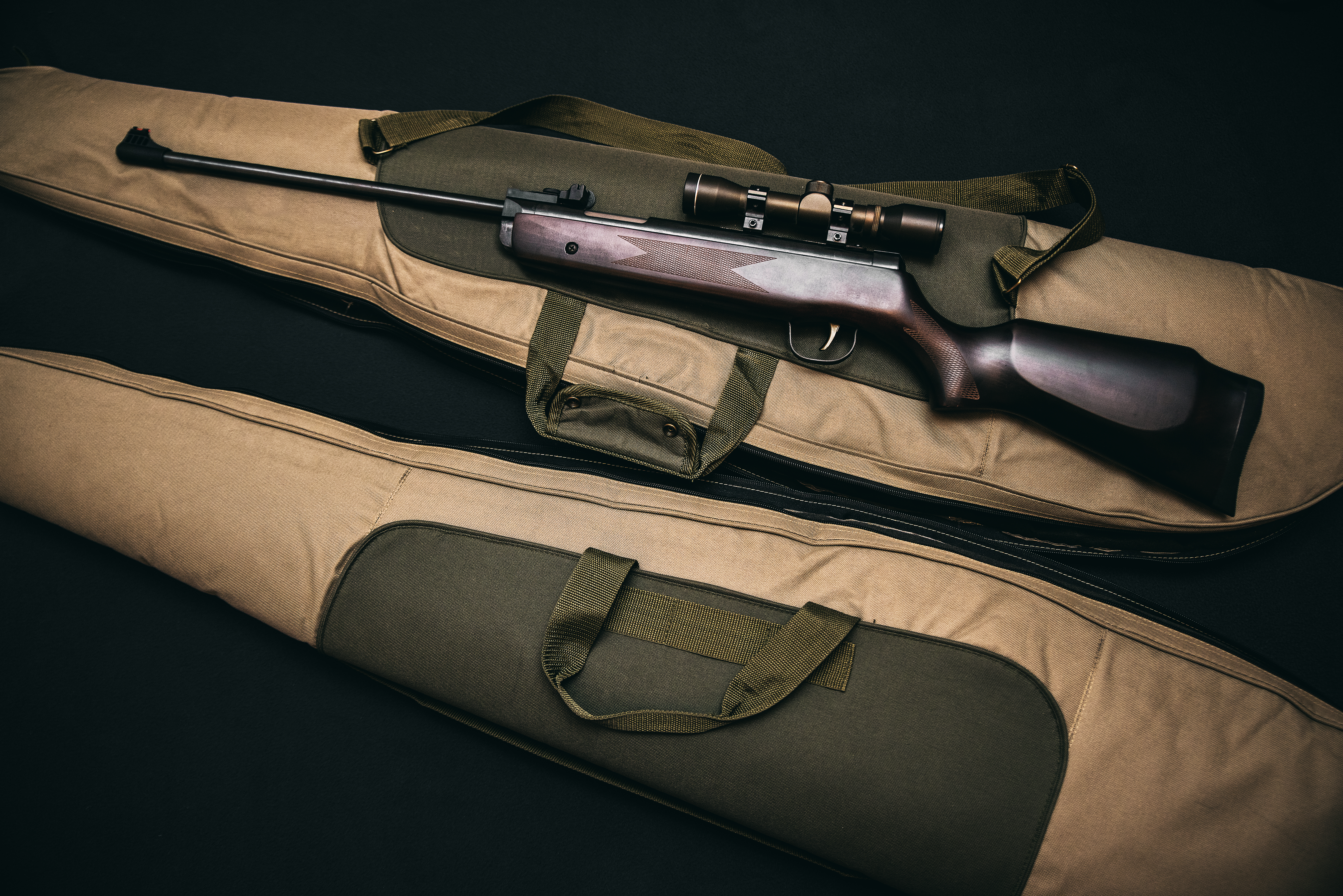 Image Result For Brown And Black Sniper Rifle With Beige Bag