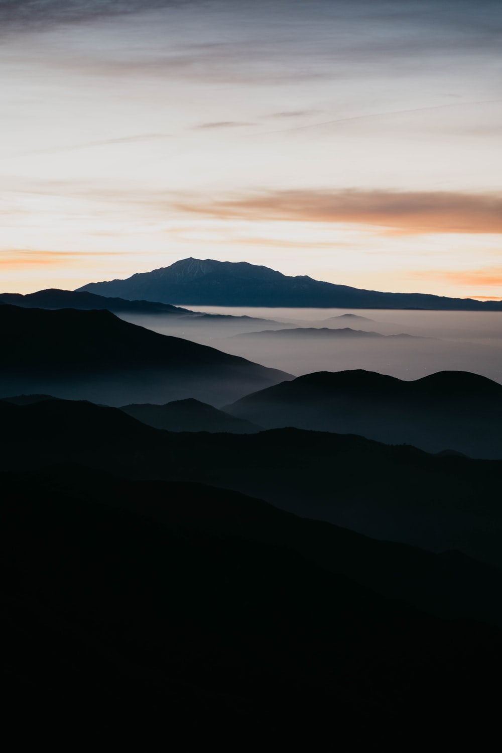 mountain filled with mist