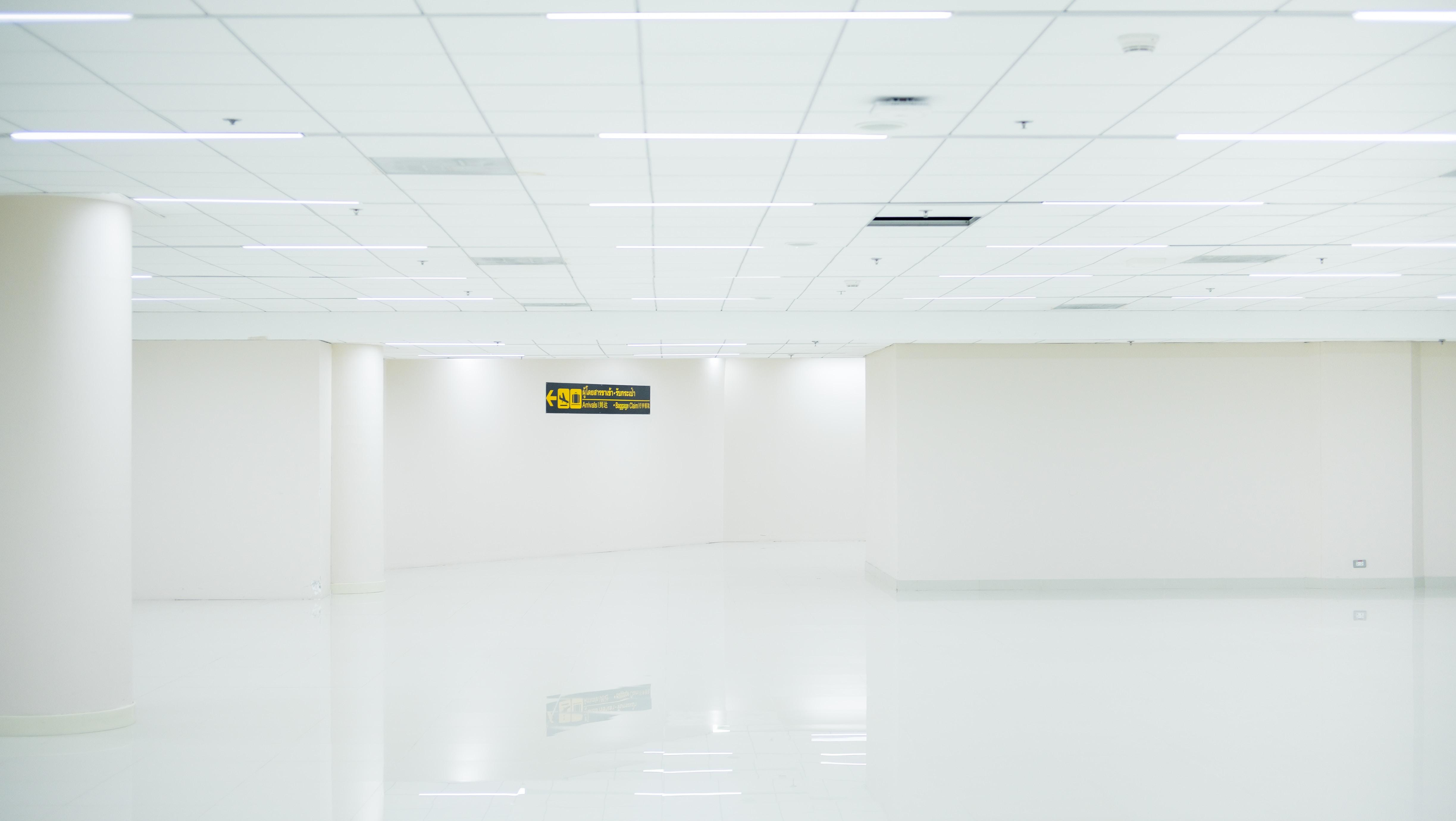 photo of white tiled room