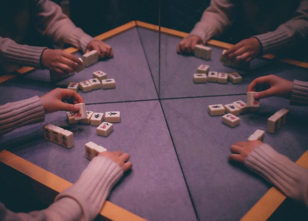 person playing mahjong