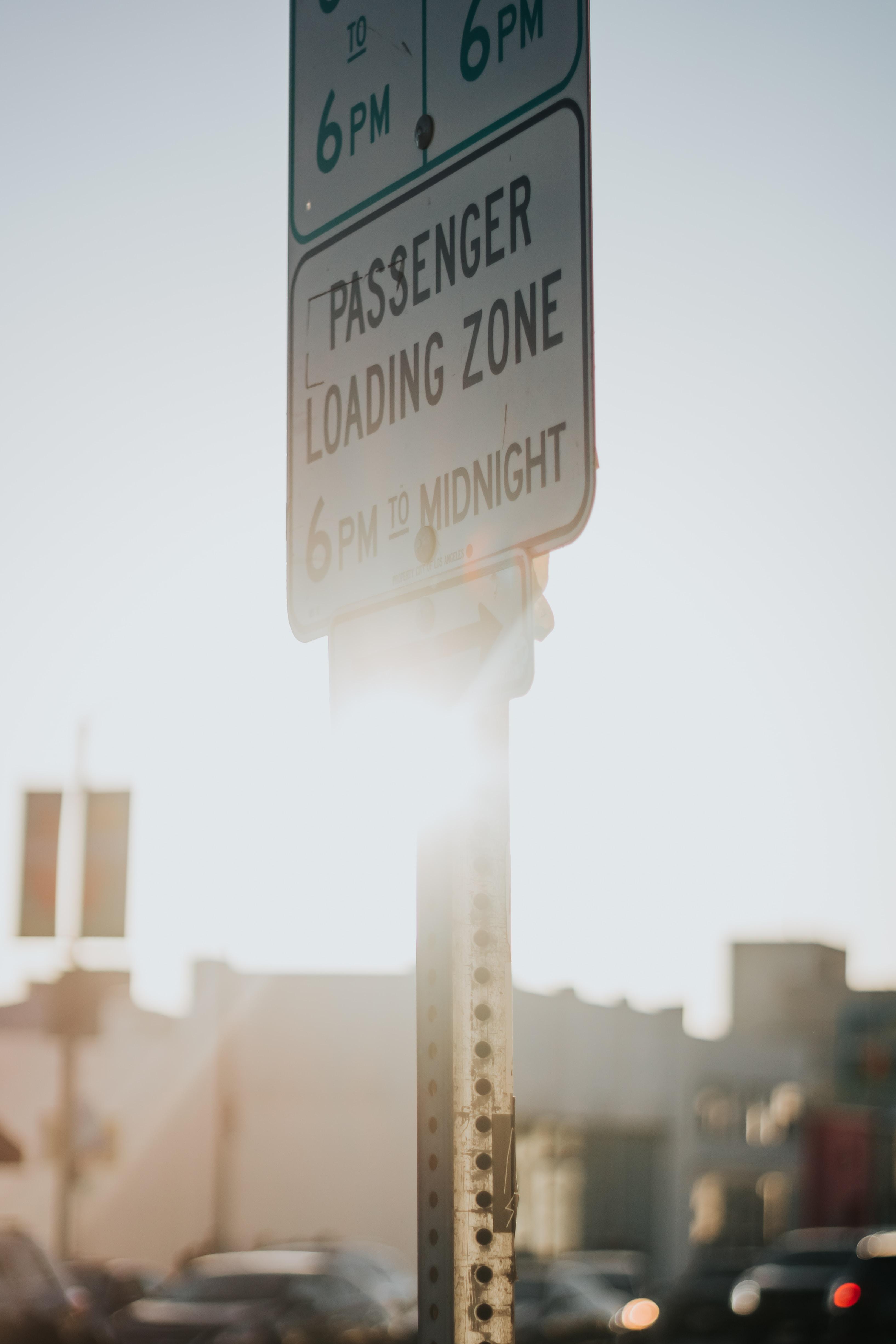 Passenger Loading Zone 6 PM to Midnight