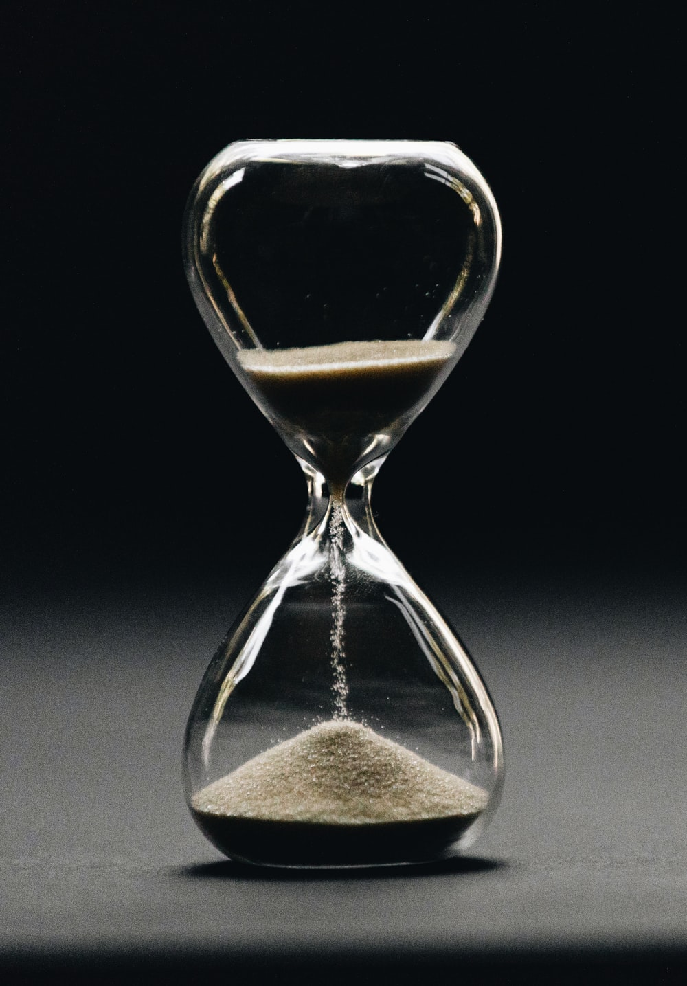 clear hour glass