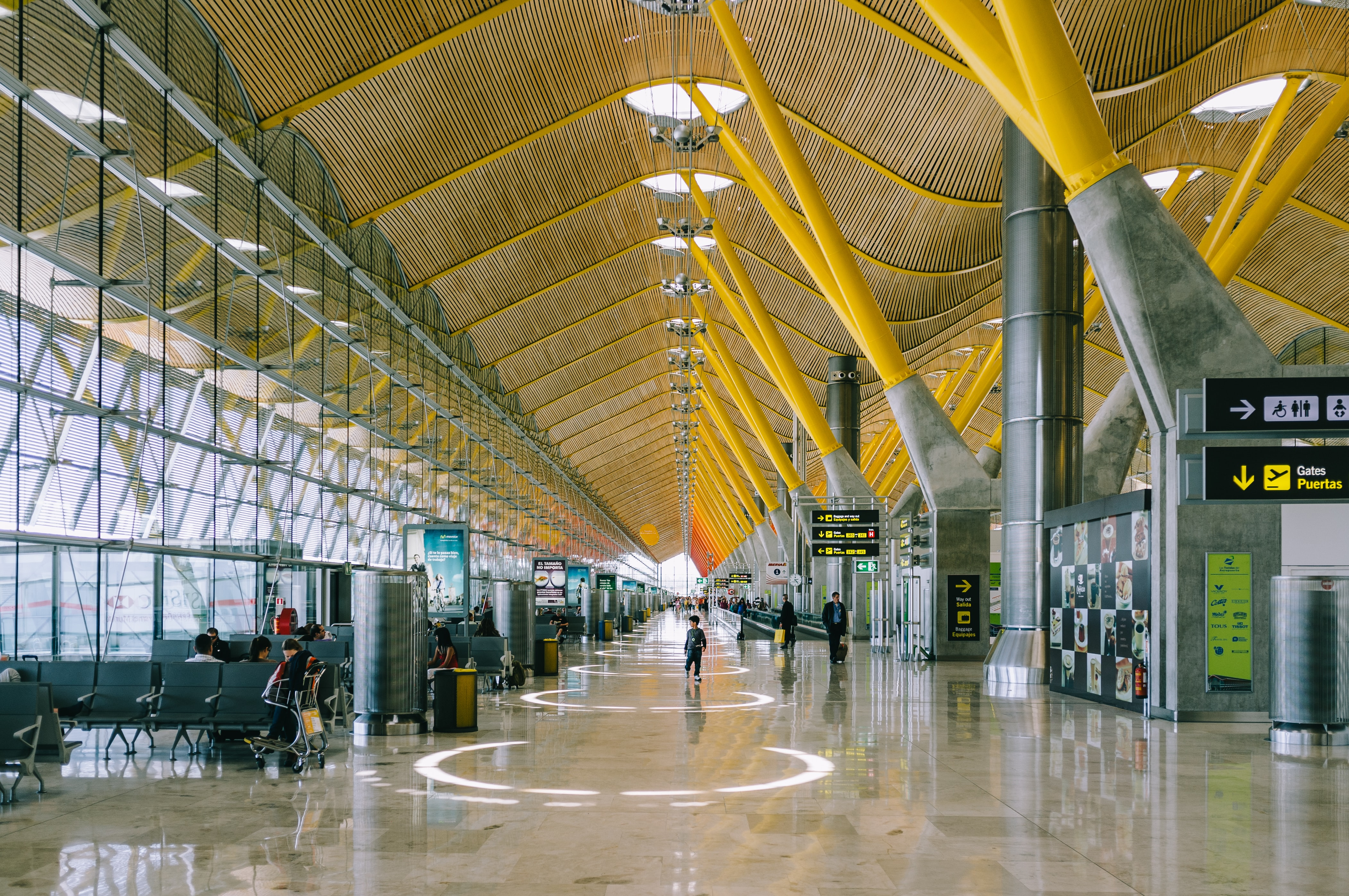 people inside of airport station