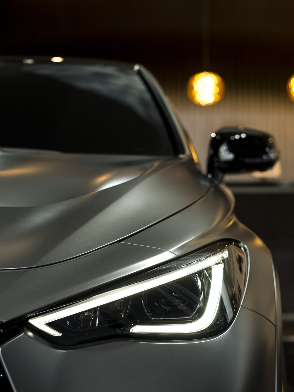 silver vehicle during nighttime