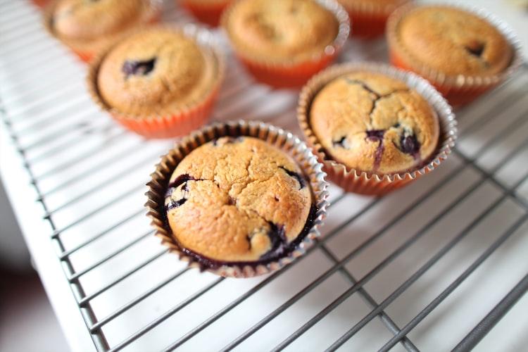 Healthy Vegan Homemade Blueberry Muffins