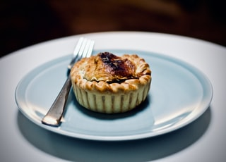 pie cake on white plate