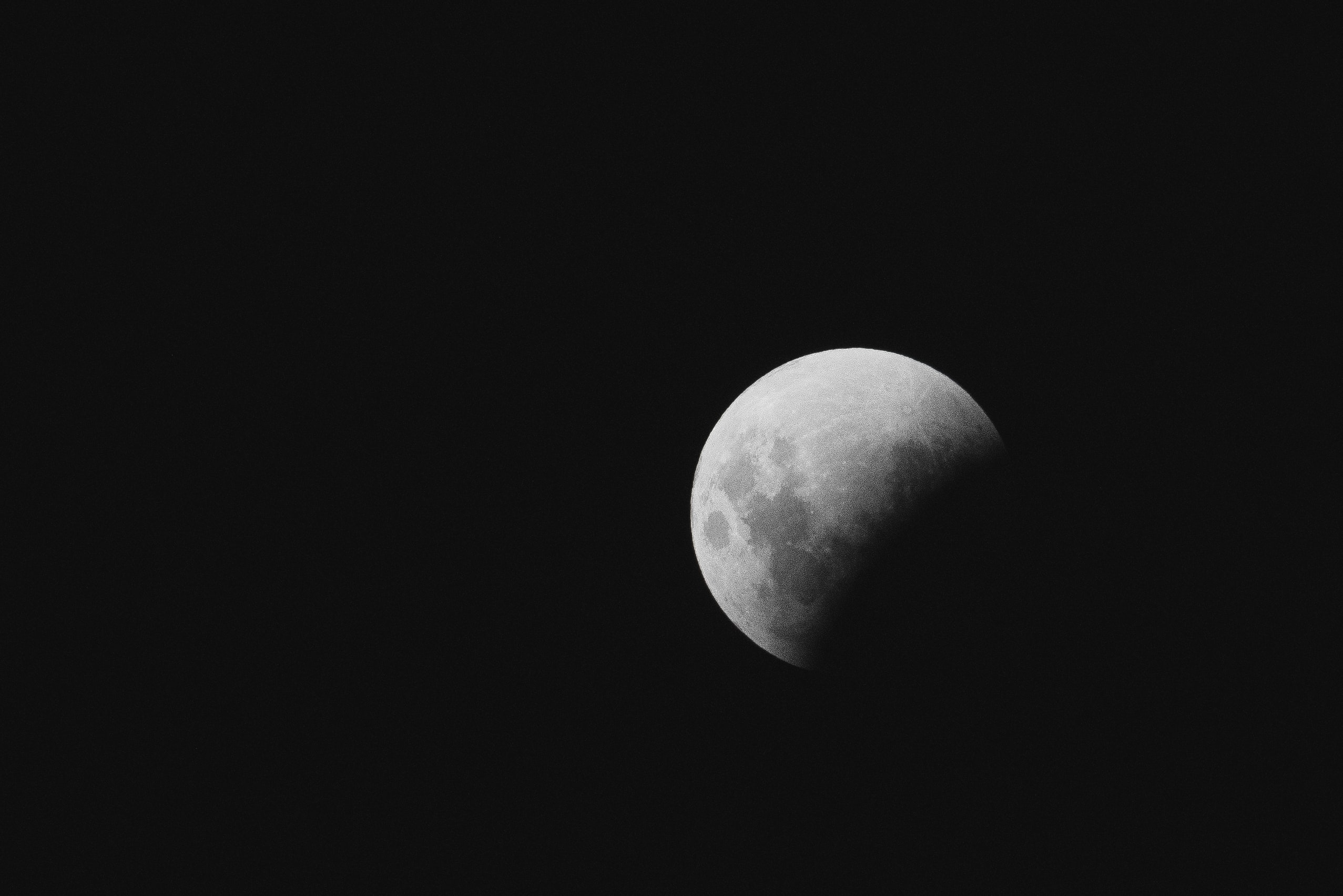 gray moon photograph