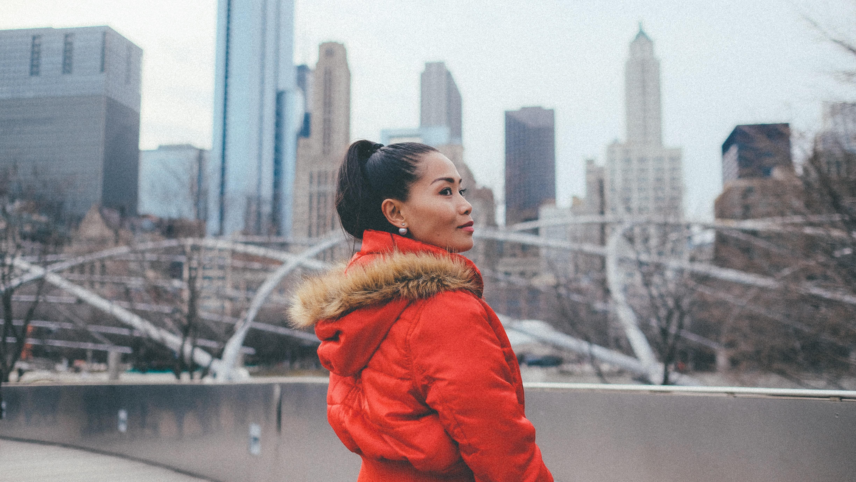 woman standing near bridge