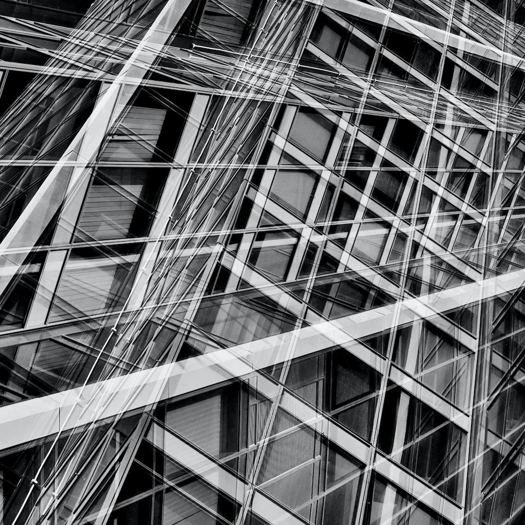 Multi exposured monochrome facade view