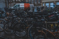 bicycle lot during daytime