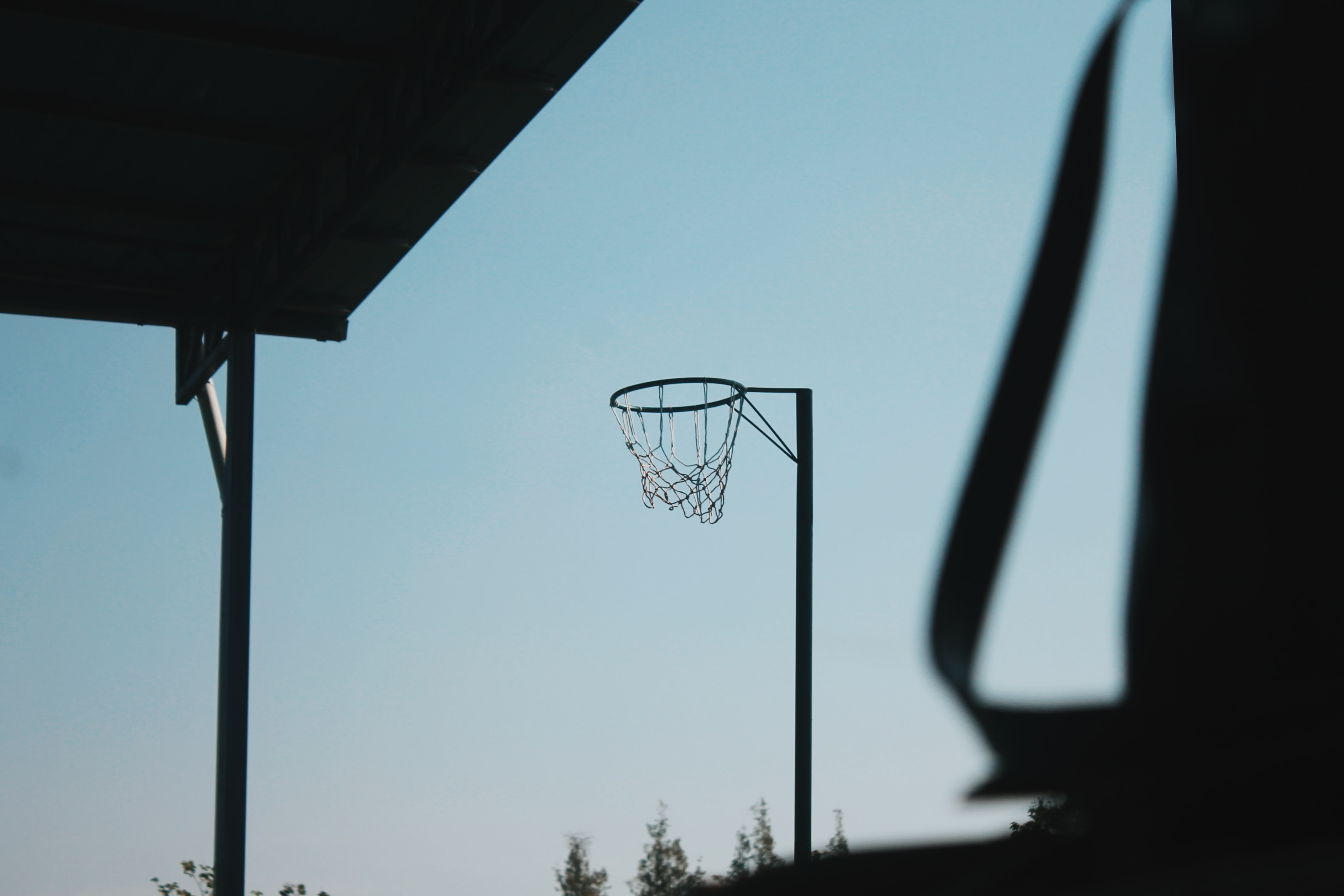 basketball hoop without board