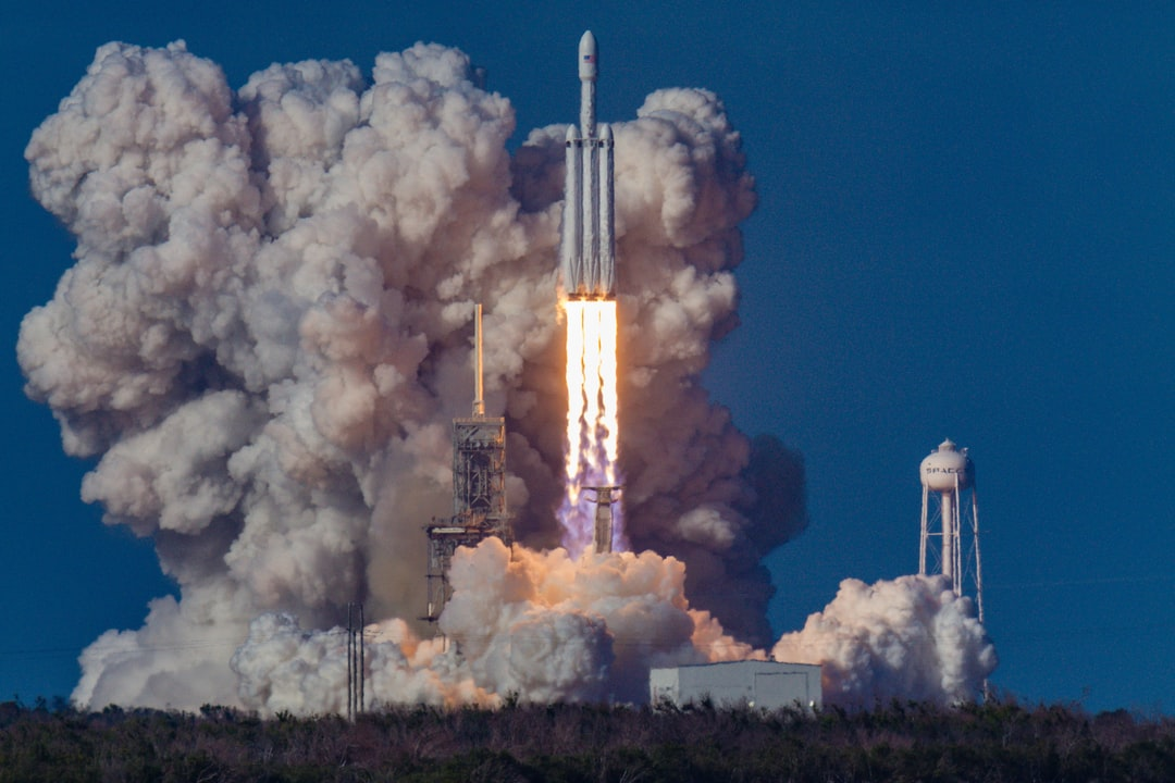 The first launch of the SpaceX Falcon Heavy rocket.