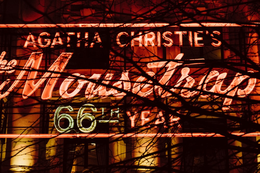 The Mousetrap neon signage