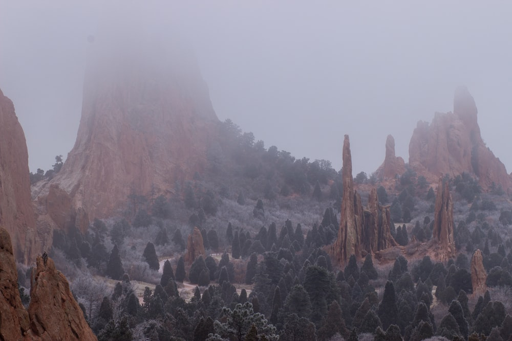 brown and gray mountains in landscape photography