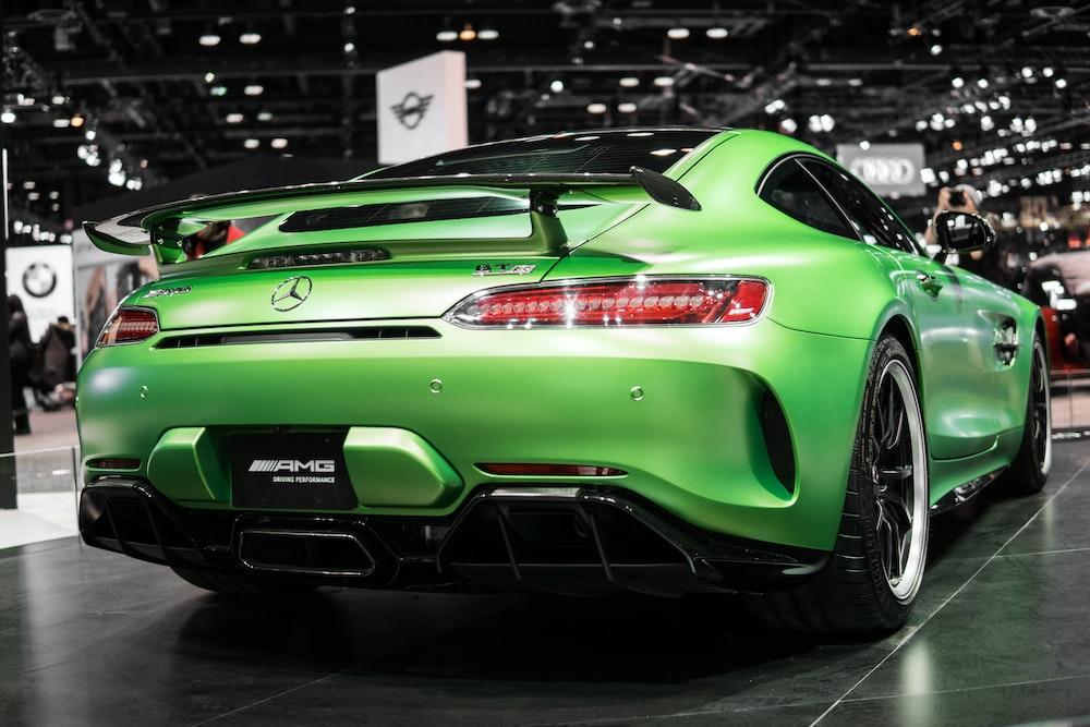 green Mercedes-Benz sedan