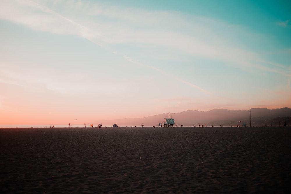 seashore at golden hour