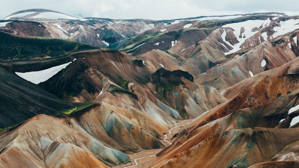 brown mountain range