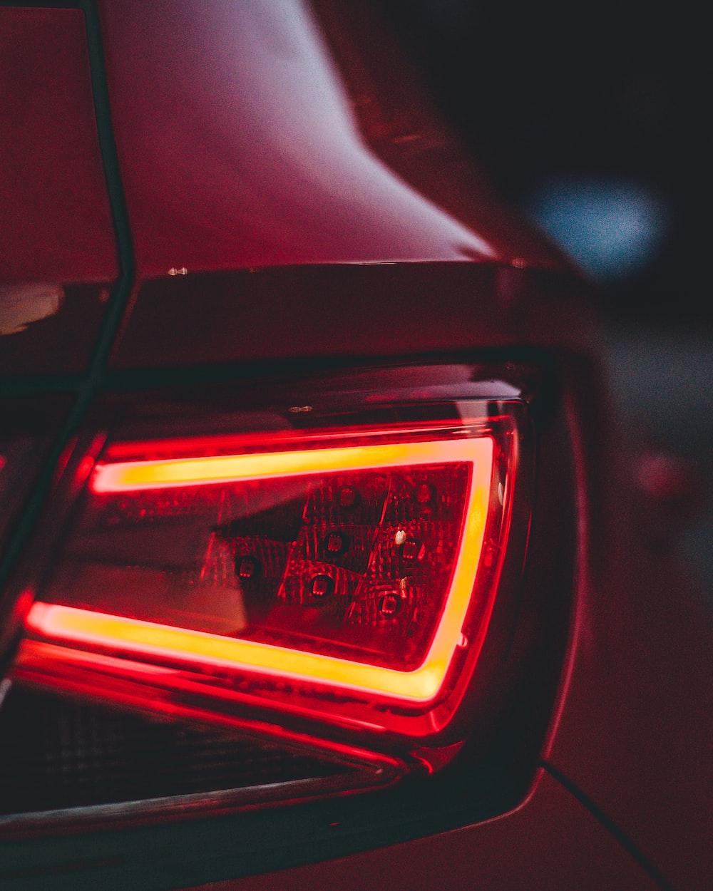turned on vehicle taillight