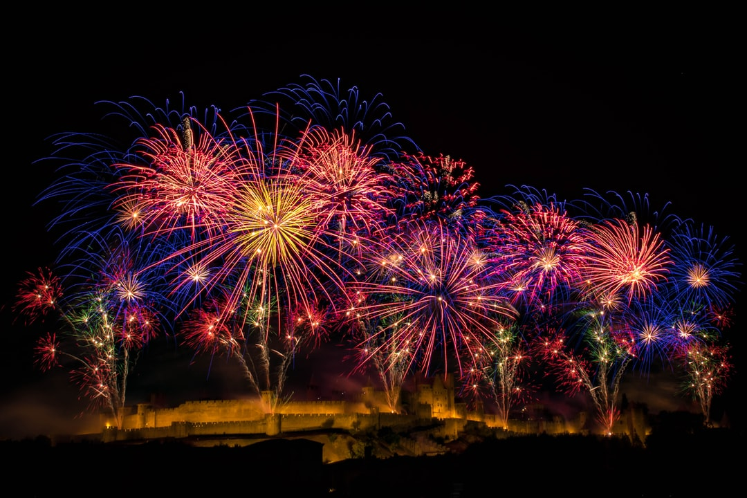 14th of july's firework of Carcassonne