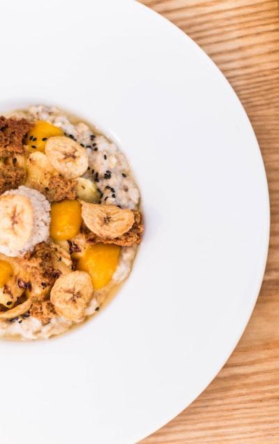 granola food on plate