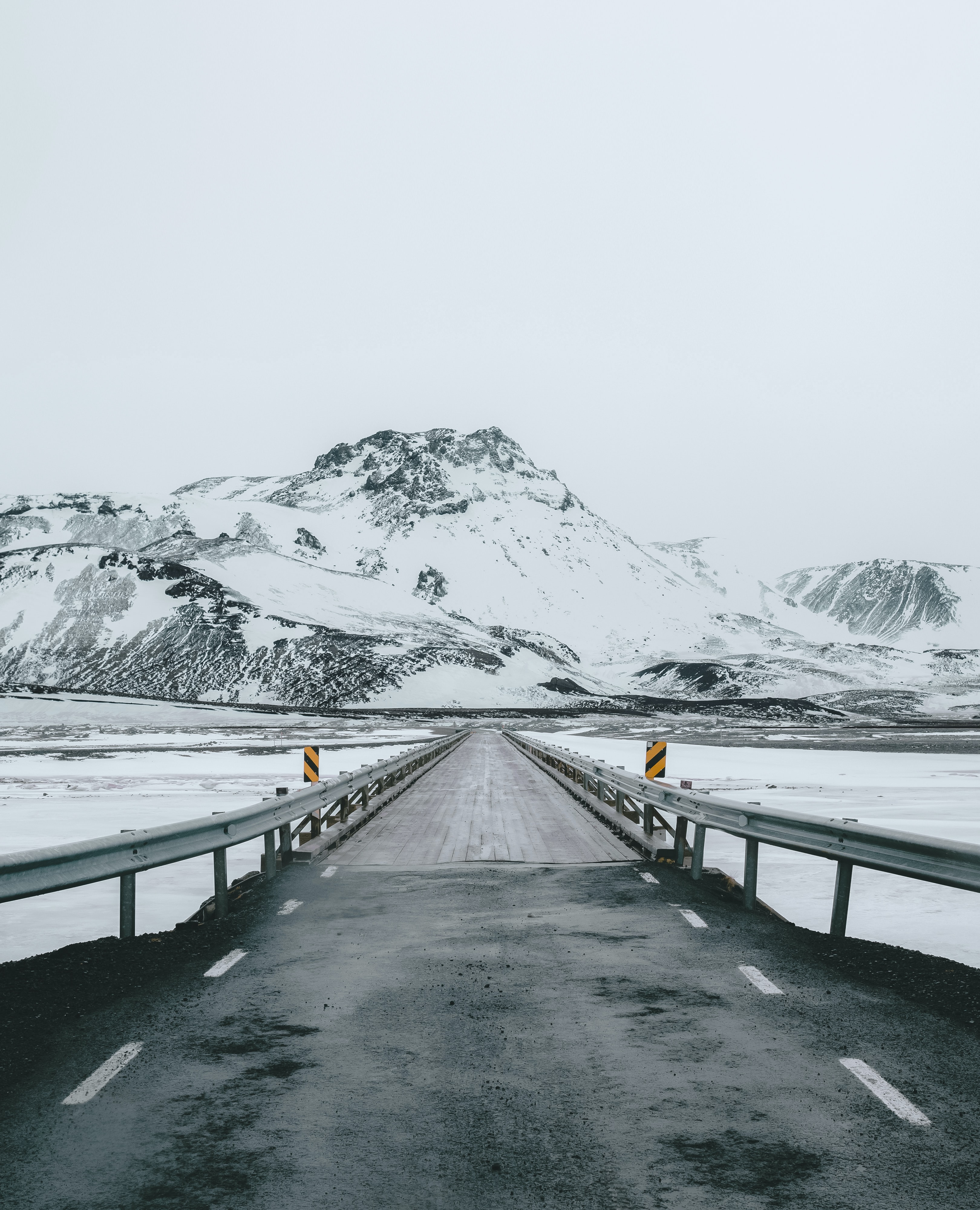 photo of gray and white highway